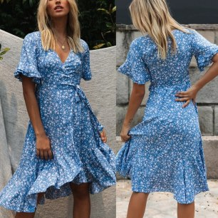 summer-Long-Dresses-Women-Casual-Boho-Floral-Print-low-cut-loose-dresses-2020-Ruffles-midi-Beach